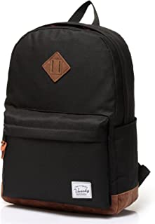 School Backpack,Vaschy Unisex Classic Water-resistant Backpack for Men Women