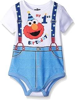 Disney Baby-Boys Elmo My First Birthday Creeper
