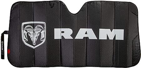 Plasticolor 003860R01 Logo Black Matte Finish Car Truck or SUV Front Windshield Compatible with Dodge Ram