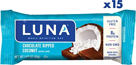Clif Bar Gluten Free Bars - Chocolate Dipped Coconut Flavor - (1.69 Ounce Snack Bars, 15 Count)