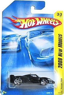 Hot Wheels Ferrari FXX Black, White Pin Down Top Side Pr5 2008 33 1/64