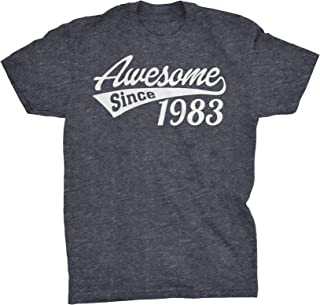 ShirtInvaders 36th Birthday Gift T-Shirt - Awesome Since 1983