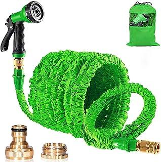 Suplong Hosepipe Garden Hose Pipes Expandable 100ft Quick Connector Expanding Hose Pipes 8 Function Hose Spray Gun