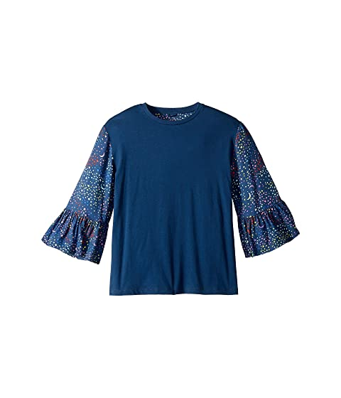 Stella McCartney Kids Dina Ruffle Bell Sleeve Top (Toddler/Little Kids/Big Kids)