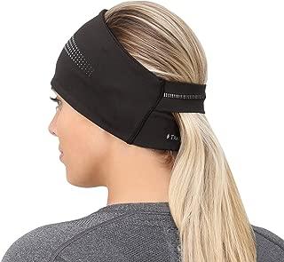TrailHeads Ponytail Headband - Adrenaline Series | Women's Running Headband with Reflective Accents