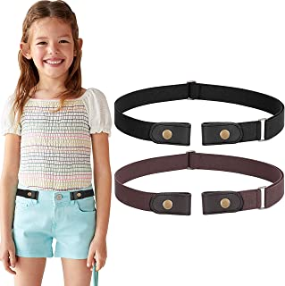 No Buckle Belt For Women/Men Buckle Free Belt Plus Size for Jeans Pants 2 Pack