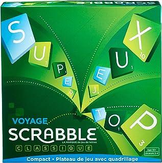 Scrabble Voyage, édition Miniature 20 x 20 cm, Jeu de Société et de Lettres, Version Française, CJT12