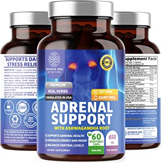 N1N Premium Adrenal Support - Cortisol Manager [13 Potent Ingredients] All Natural Adrenal Fatigue Supplement for Men & Wo...