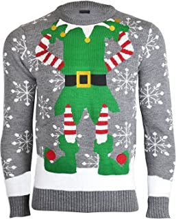 comprar comparacion NOROZE Hombres Mujeres Unisexo Prima Novedad De Punto Christmas Navidad Suéter Duende Jumpers