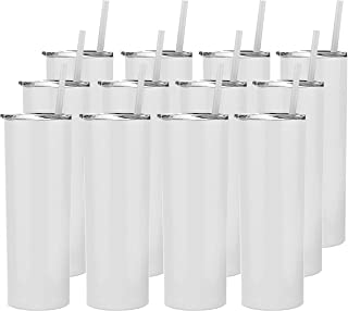 Stellar 20 oz. Skinny Steel 12 Pack Double Wall Stainless Tumbler (White)