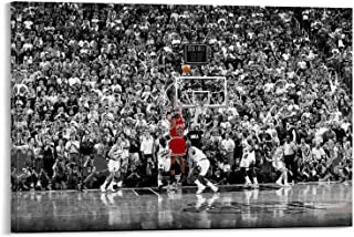 HGFDG - Stampa artistica su tela, motivo: Michael Jordan (Michael Jordan), motivo: stella di basket Michael Jordan, 40 x 6...