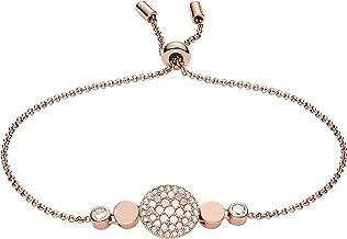 Fossil Womens Vintage Glitz Mother-of-Pearl Slider Bracelet