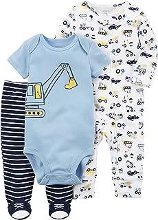 Carter's Baby Boys' 3-Piece Construction Sleep and Play Set