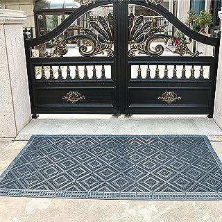 Welcome Doormat for Outdoor Entryway, Large Door Mat for Patio Garage High Traffic Areas, Low Profile Front Door Floor Mat...