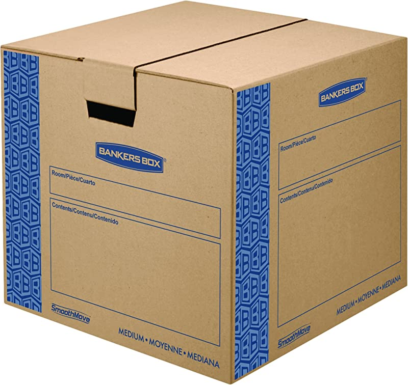 Bankers Box SmoothMove Prime Moving Boxes Medium 8 Pack