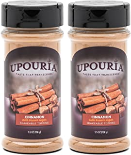 Upouria Cinnamon Sugar Shakeable Hot Cocoa and Coffee Topping 5.5 Ounce - (Pack of 2)