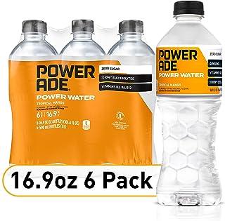 POWERADE Power Water, Tropical Mango, Zero Sugar Zero Calorie ION4 Electrolyte Enhanced Fruit Flavored Sports Drink Bottle...