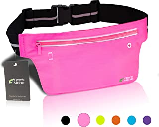 Ultra Slim Fanny Packs Running Belt, Water Resistant...