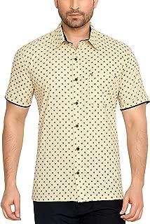 GLOBALRANG Casual Printed Half Shirt for Men