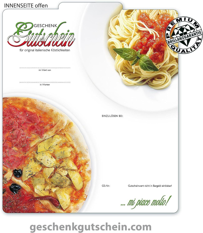 50 Stk. Stk. Stk. Premium Geschenkgutscheine Gutscheine zum Falten MultiFarbe  für Italienische Restaurants, Pizza & Pasta G204, LIEFERZEIT 2 bis 4 Werktage  B01H59SBOU | Fairer Preis  c7b5e2