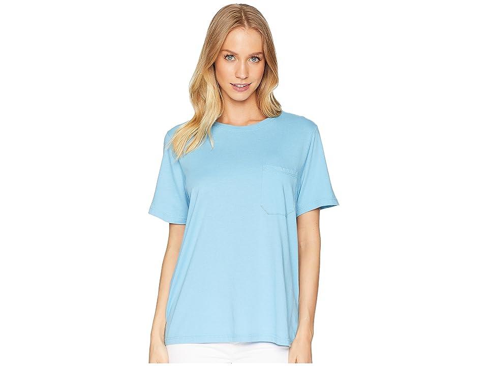 Richer Poorer Crew Pocket Tee (Blue) Women's T Shirt