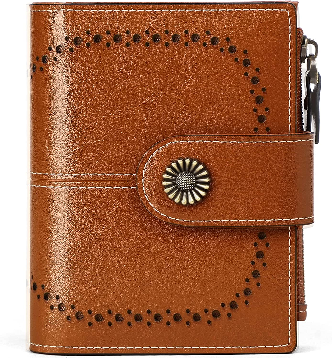 Small Leather Wallet for Cash special price Safety and trust Women RFID Bifold Z with Purse Blocking