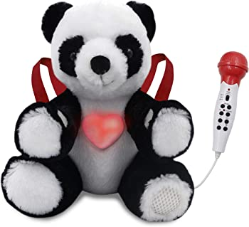 Singalong Buddies Plush Panda with Wired Microphone & Built-In Speaker