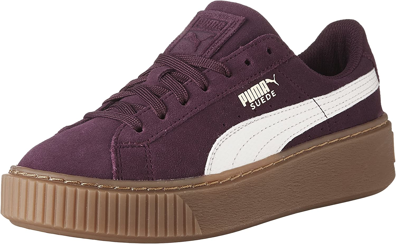 PUMA Kids' Suede Platform Jr Sneaker