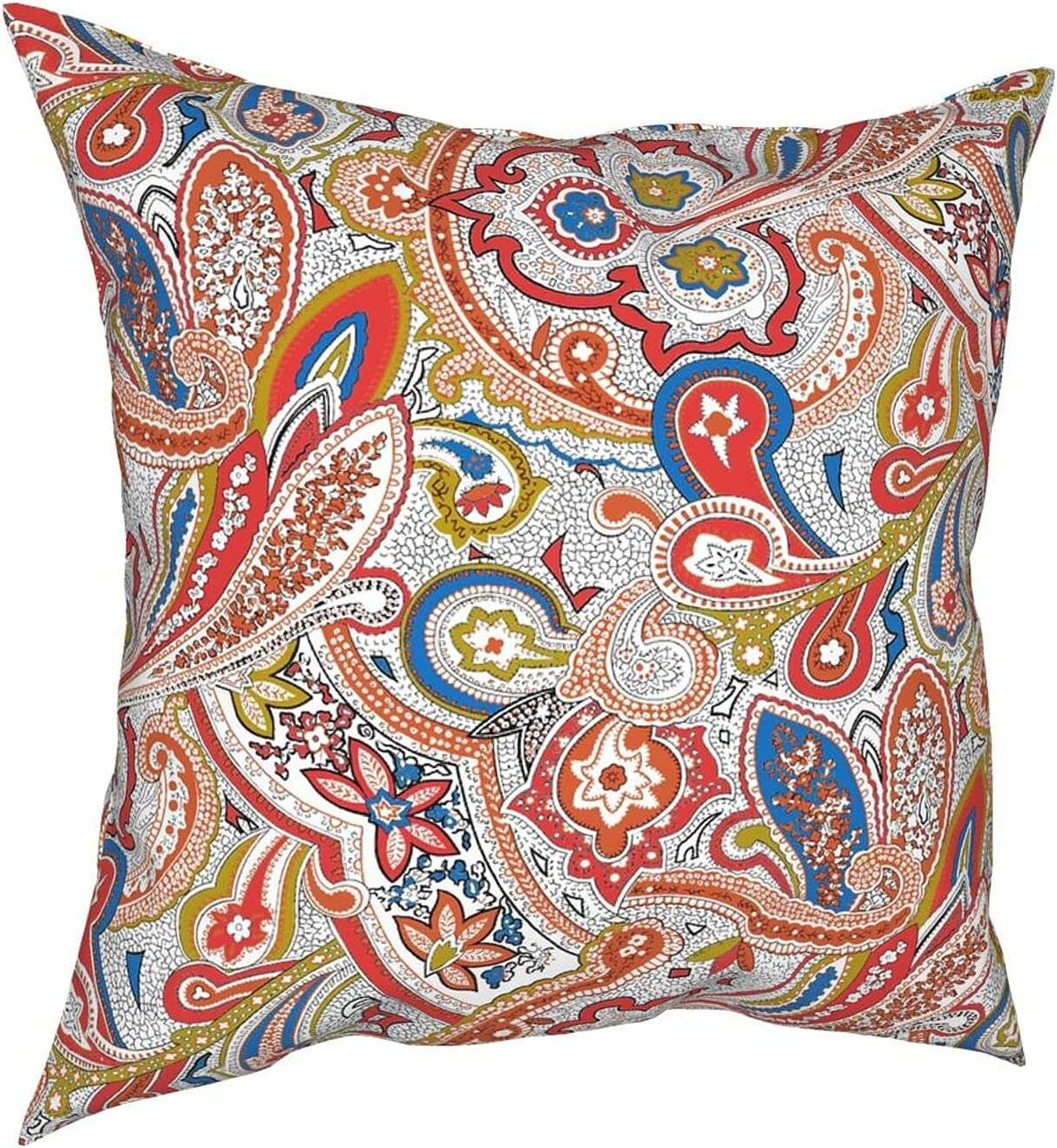 Superior PMHGJDSVFSD Boho Floral Decorative Pillow Covers Euro M Colorful Excellence