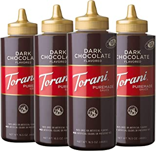Torani Puremade Dark Chocolate Sauce, 16.5 Ounces (Pack of 4)