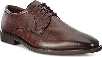 ECCO Men's Calcan Plain Toe Tie Oxford (Cocoa Brown)