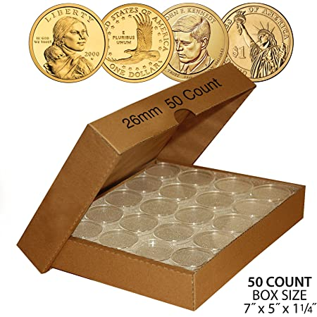 Small Dollar 26.5mm Direct-Fit Coin Capsules 10 Pack