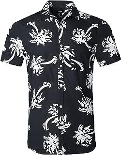 NUTEXROL Hawaiian Shirts Mens Bamboo Print Beach Aloha Party Holiday