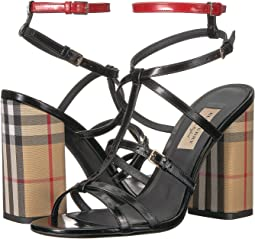 Burberry - Vintage Check and Patent Leather Sandals