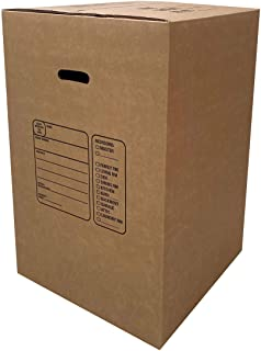 """Sponsored Ad - uBoxes Kitchen Moving Boxes (4 Pack) Double Wall 18x18x28"""" Heavy Duty Boxes"""