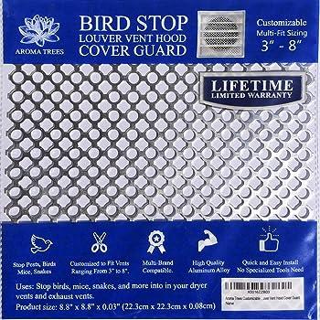 Amazon Com 2 Pack Dryer Vent Bird Stop Mesh Dryer Vent Grill Sheet Bird Stop Mesh Metal Screen Exhaust Vent Guard Stop Birds Nesting Cover For Dryer Vents Bathroom Exhaust