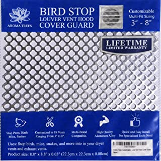 New Aroma Trees Dryer Vent Bird Stop - Dryer Vent Grill - Pest Guard - Stops Birds Nesting In Dryer Vents, Customizable 3
