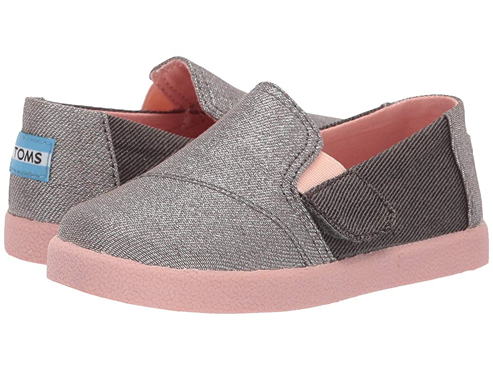 TOMS Kids Avalon (Infant/Toddler/Little Kid) (Forged Iron Twill Glimmer) Kid