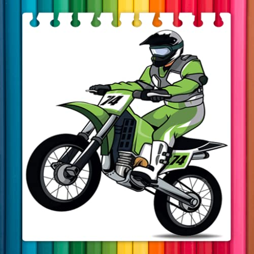 Coloring Book Motorcycles For Child