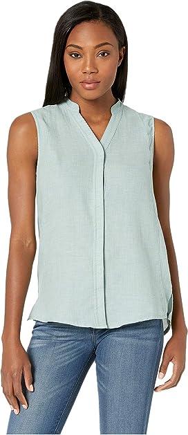 White Sierra Gobi Desert Printed Sleeveless Shirt