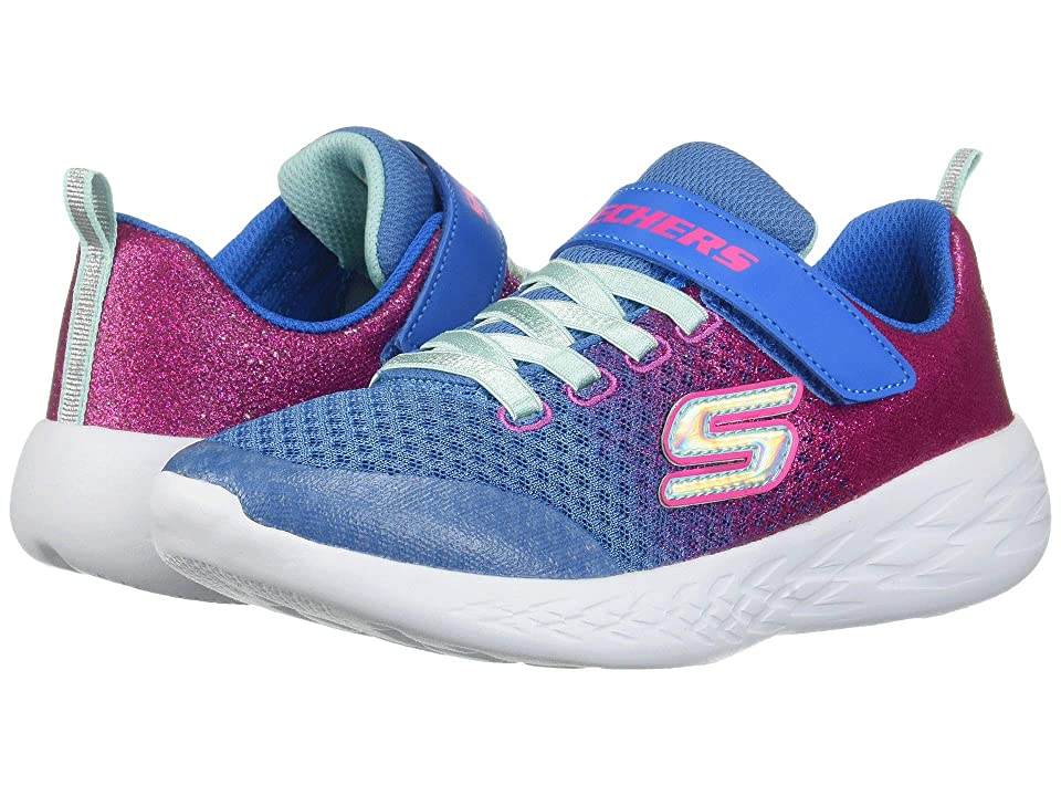 SKECHERS KIDS Go Run 600 Sprinkle (Little Kid/Big Kid) (Blue/Neon Pink) Girl