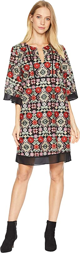 Tati Floral-Embroidered Dress