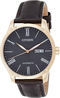 Citizen Watch for Men Leather Band, Analog, NH8353-00H