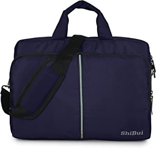 SHIBUI Tojo Series Unisex Carry Upto 15.6-inch Polyester Cross over Messenger Bags with Detachable Shoulder Straps and Lap...