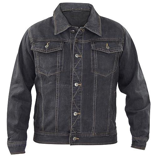 bd4e11fc7afa New Mens Denim Regular Fit Chest Pocket 100% Cotton Summer Button Jacket  Casual