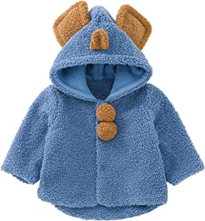 pureborn Baby Toddler Hooded Carseat Poncho Cape Cloak Fleece Jacket Coat Winter Outfit 0-4 Years