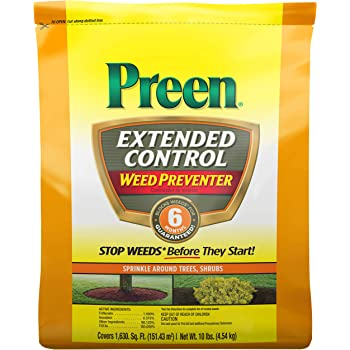 Preen 2464221 Extended Control Weed Preventer, 10 lb. -Covers 1,630 sq. ft