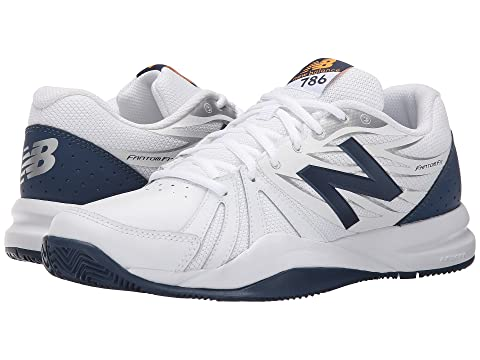 Best Selling Mens Athletic Shoes - New Balance MC786V2 White/Black