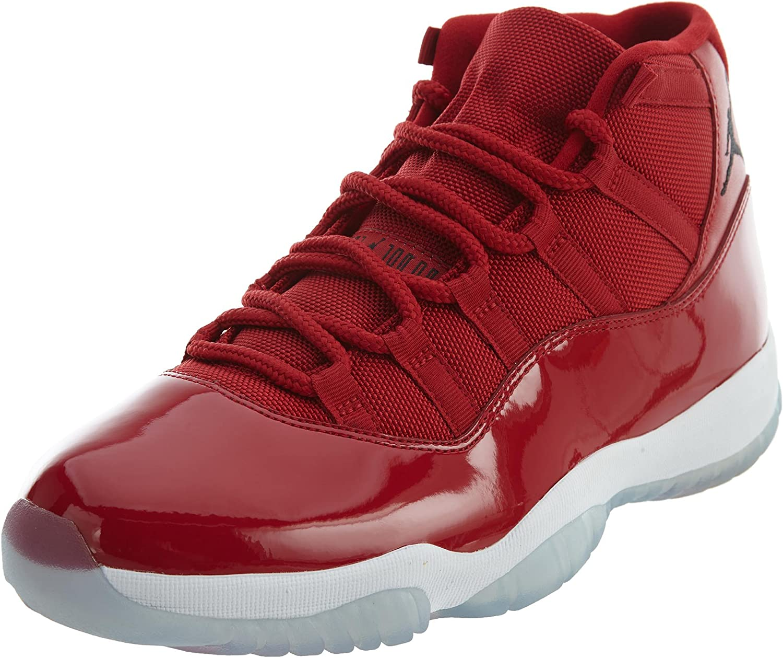 Nike Herren AIR Jordan XI Retro Win WIE 96 Schuhe in rot glänzendem Leder 378037-623 B078HQZS21  Wert