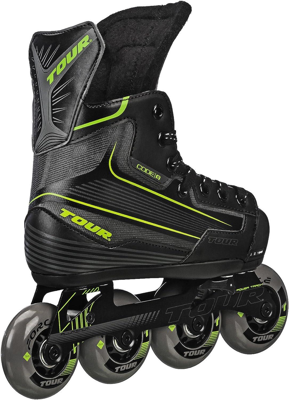 Tour Hockey CODE 9 Youth Adjustable Inline Black Max 64% Direct sale of manufacturer OFF Skate
